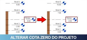 alterar cota zero do projeto 01